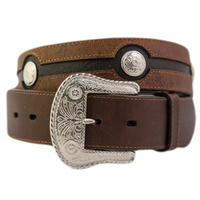 Chocolate Leather w/ Silver Conchos-306