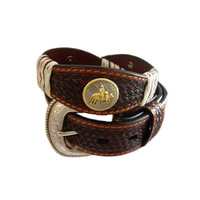 Mens Italian Leather Belts-Campdrafter-307-C