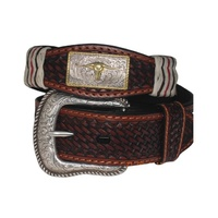 Mens Italian Leather Belts-Steerhead-307-S