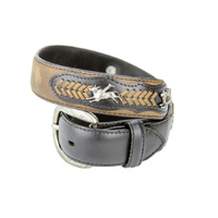 Boys Dark Brown Leather w/ Bull Rider Conchos - 311