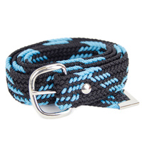 Braided Nylon OSFA Belt - Aqua/Black - 31503