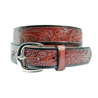 Boys Embossed Leather Belts - 321