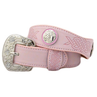 Pink Leather With Barrel Racer Conchos - 370