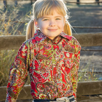 Girls 100% Cotton 'Riverina Red' Shirt - 4052E