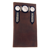Distressed Leather Buck Stitching & Conchos - 5006-A