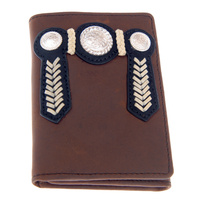 Distressed Leather Buck Stitching & Conchos - 5006-C
