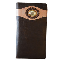 Dark Brown Leather with Floral Concho - 5008-A