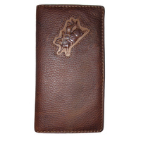 Distressed Leather with Bull Rider Brand - 5017-A