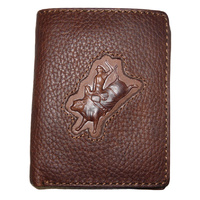 Distressed Leather with Bull Rider Brand - 5017-B