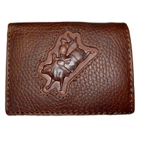 Distressed Leather with Bull Rider Brand - 5017-C