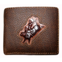 Distressed Leather with Bull Rider Brand - 5017-D