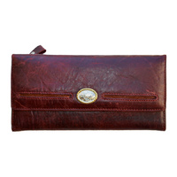 Dark Cherry Genuine Leather Purse - 5021