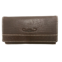 Rich Brown Genuine Leather Purse - 5023