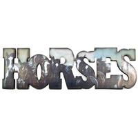 """Horses"" Sign - Wall Mount - 7051"