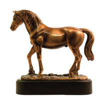 Standing Horse - Large Bronze Statue - 7403