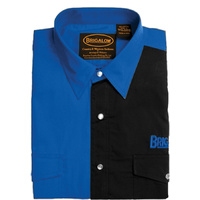 Mens Two Tone Cotton Shirts-8008-W-Royal/Black