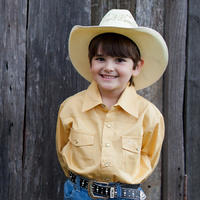 Boys 100% Cotton Sand Dress Shirt - 8056E