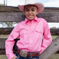 Boys 100% Cotton Pink Dress Shirt - 8056-P