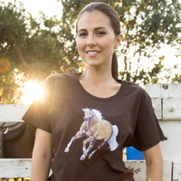 Ladies Chocolate Horse T-Shirts - A2002