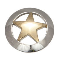 Western Star - Gold Star -  Silver Border -38mm - Pack of 6 - Concho-03
