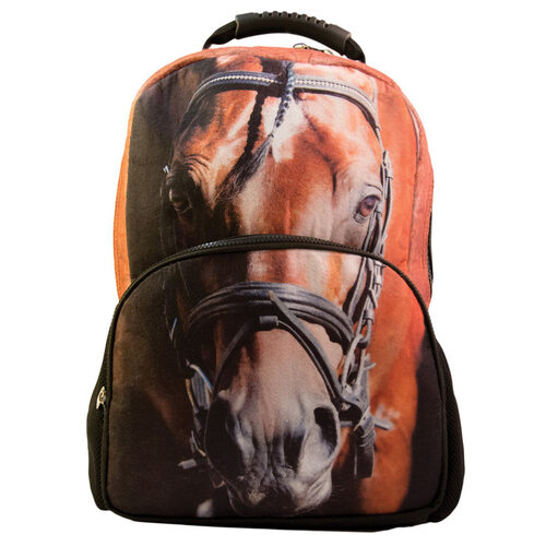 Backpack - Horse Head Print - Felt - FK01