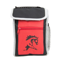 Lunch Box - Red and Black - Horse Head Print - GG772