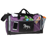 Purple Overnight Bag - Lila Silver Horse Print - GG790P