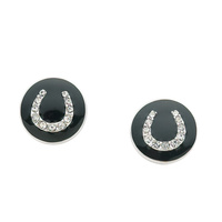 Earings - Horseshoe Pendant - Rodium - JE7696