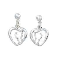 Earrings - Horse Head Heart - Gift Boxed - JE907