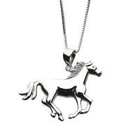 Necklace - Sterling Silver Running Horse - JN631