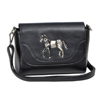 Black Faux Leather Handbag - LP413BK
