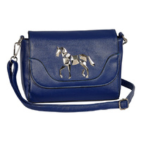 Blue Faux Leather Handbag - LP413BL