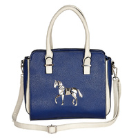 Blue Faux Leather Handbag - LP414BL
