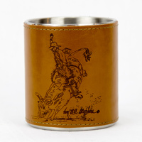 Leather Bound Mug - Bull Rider - Mug22
