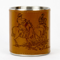 Leather Bound Mug - Team Roping - Mug23