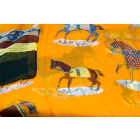 Ladies Scarf - Orange Horses - Scarf-09