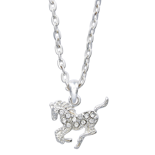 Necklace - Precious Pony Clear -  Gift Boxed - JN896CL