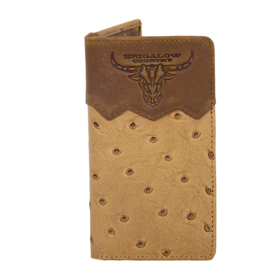 5112   me New Youth Tan Floral Leather Rodeo Wallet with Brigalow Embossed Logo