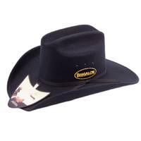 Hat - Western - Dallas Felt Covered Black - [Code150]