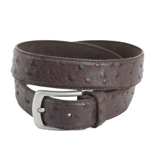 Belt - Leather - Ostrich Pattern - [304]