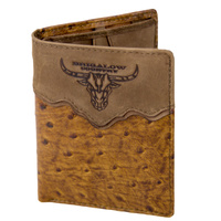 Wallet - Leather - Ostrich Pattern - Brigalow Logo - [5002-B]