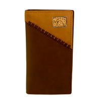 Dark Brown & Coffee Leather With Silver & Gold Concho - 5003-A