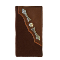 Wallet - Leather - Suede Distressed - Silver Concho & Arrows - [5004-A]