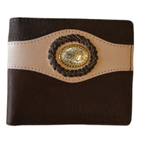 Dark Brown Leather with Floral Concho - 5008-B