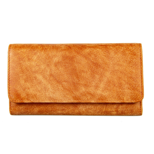 Ladies Burnt Orange Leather Purse - 5024