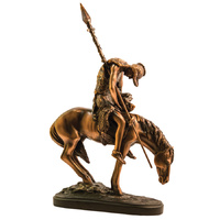 Resting Warrior - Large Bronze Statue - 7402