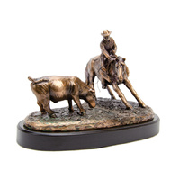 Rodeo Cutter - Medium Bronze Plated Statue - 7530