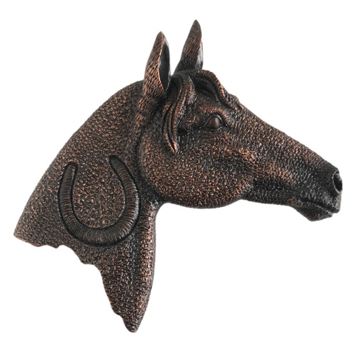 Horse Head Wall Hanging - Copper/Gold Resin - [Code 9010]