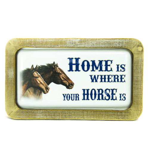 "Metal Wall Art - ""Home is where your Horse Is"" - 9021"