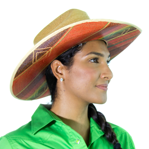 Aztec Print 20X - Palm Leaf Hat - BC2922